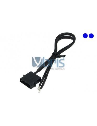 Phobya LEDready Twin 3mm Ultra-bright Blue 30cm -sleeve black
