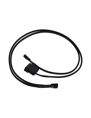 Phobya Cavo di alimentazione per splitter PWM 50cm - black