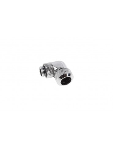 Alphacool Eiszapfen Raccordo 90° Ruotabile per tubo rigido 10/13 mm - Chrome