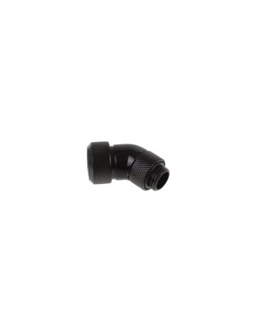 Alphacool Eiszapfen Raccordo 45° Ruotabile per tubo rigido 10/13 mm - Black