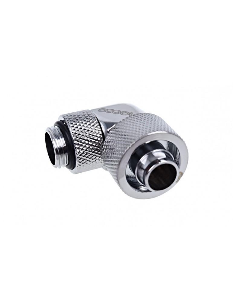 Alphacool raccordo compressione 10/13mm 90° ruotabile G1/4 - chrome - Eiszapfen
