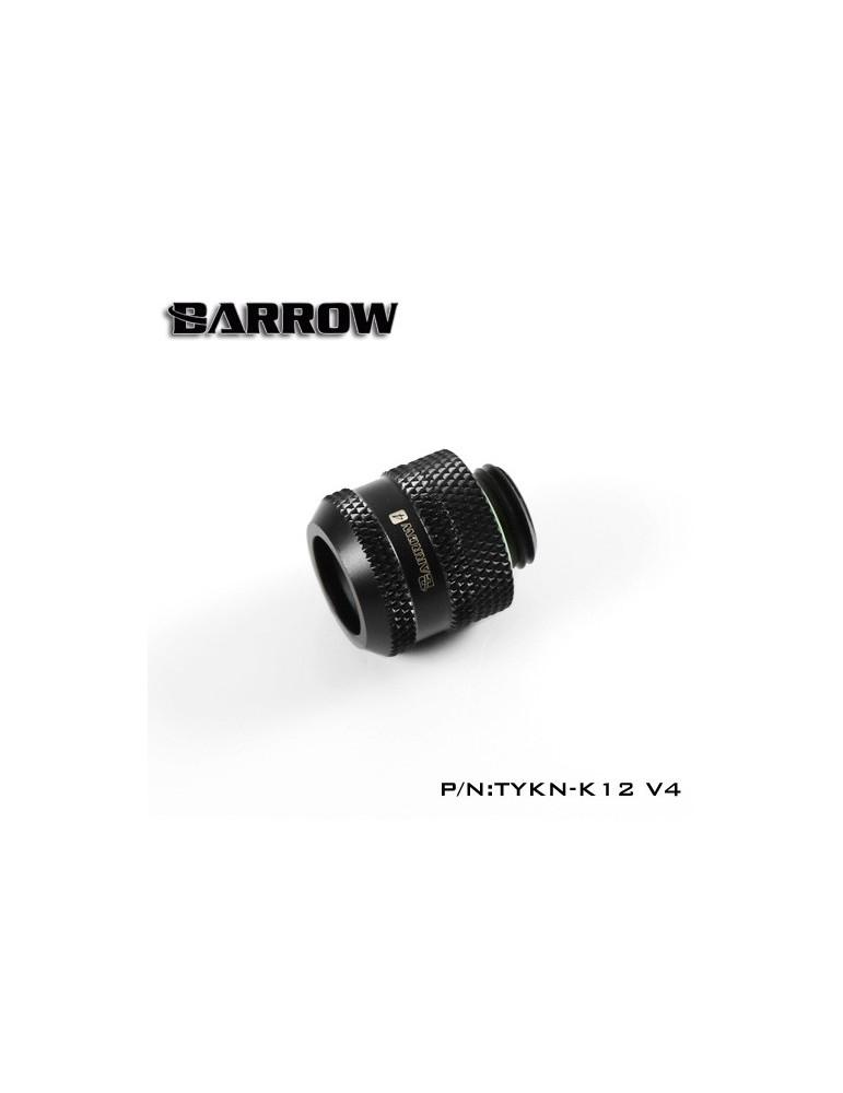 Barrow Raccordo per tubo rigido 8/12 e 10/12 - TYKN-K12 V4 - Black