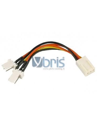 Y-cable 3Pin Molex to 2x 3Pin Molex