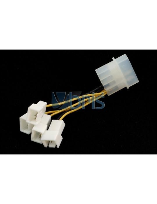 Adattatore Molex  da 1x4pin a 4x3pin attacchi femmina Ybris-Cooling - 2