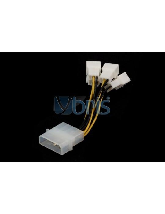 Adattatore Molex  da 1x4pin a 4x3pin attacchi femmina Ybris-Cooling - 3