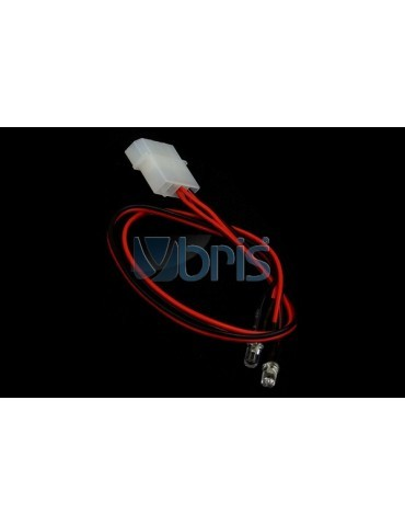 LED 3mm twin ultra bright RED