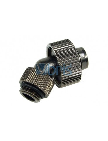 Raccordo compressione 1/4G 45° per tubo 13/19mm Black Nikel