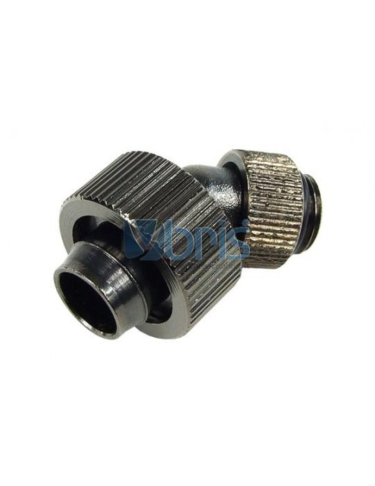 Raccordo compressione  1/4G 45° per tubo 13/19mm Black Nikel Phobya - 2