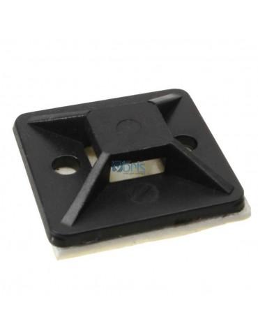 InLine Basette adesive 25x25mm per fascette da 4,8mm, colore nero, 10pz