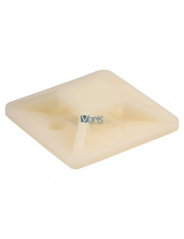 InLine Basette adesive 25x25mm per fascette da 4,8mm, colore neutro, 10pz