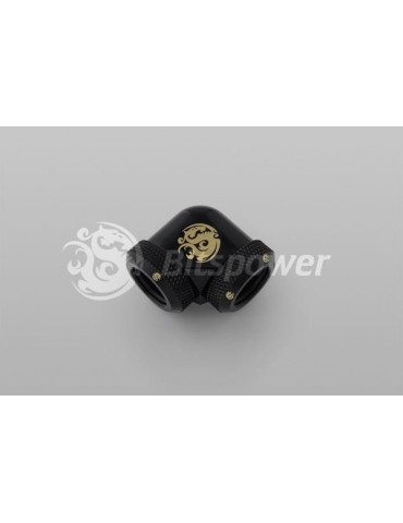 Bitspower Raccordo 90° per tubo rigido 10/12mm - Black Matt
