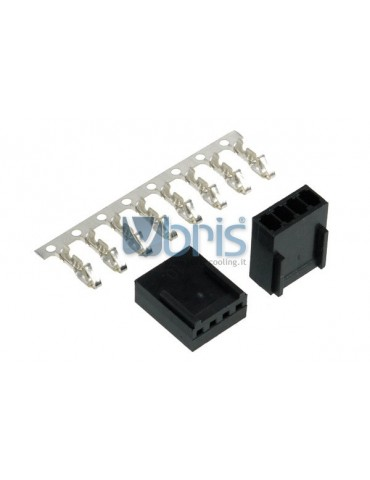 Phobya Fan Power Connector 4Pin PWM female Incl. 4 Pins - 2 pcs Black