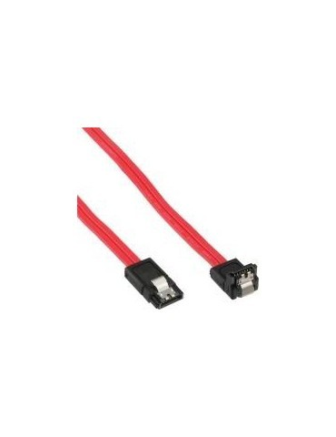 InLine Cavo SATA 7pin L-Form a SATA 7pin L-Form, Max 6Gbs, piatto, chiusura a sc
