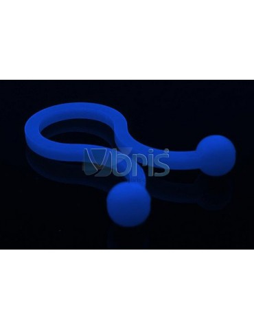 "Phobya Flex Sleeve 3mm (1/8"") UV blue 1m"