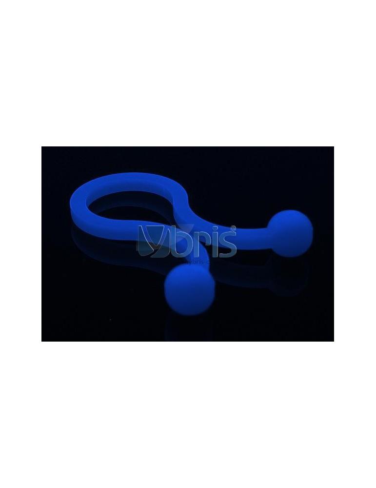 "Phobya Flex Sleeve 3mm (1/8"") UV blue 1m"
