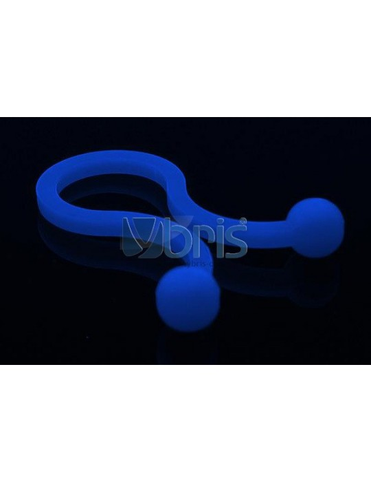 """Phobya Flex Sleeve 3mm (1/8"""") UV blue 1m Phobya - 1"""