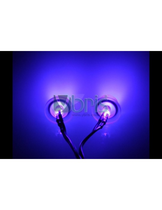 LED 3mm twin ultra bright PURPLE UV Ybris-Cooling - 2