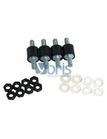 Alphacool kit 4 cuscinetti gomma antivibrazione