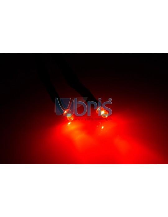 Phobya LEDready Twin 3mm Ultra-bright RED 30cm -sleeve black Phobya - 2