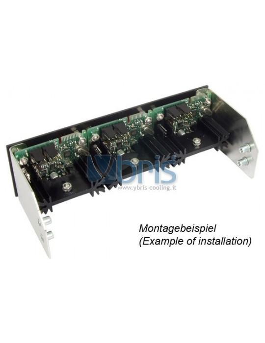 Aquacomputer pannello frontale  per Poweradjust 3 USB, Alluminio nero anodizzato Aquacomputer - 2