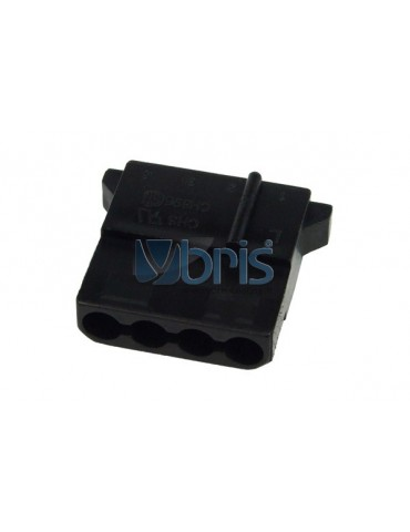 mod/smart PSU Power Connector 4pin Molex Stecker - nero
