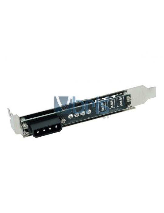 Phobya PCI slot cover 4Pin Molex & 3x 3Pin fan plug Phobya - 4