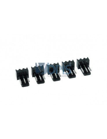 Phobya Fan Power Connector 3Pin male - 5 pcs Black