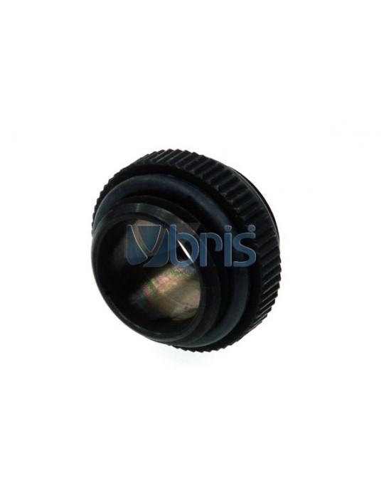 Alphacool double nipple G1/4 G1/4  con oring - deep black Alphacool - 1
