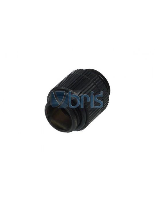 Alphacool double nipple G1/4 G1/4 snodato - deep black Alphacool - 1