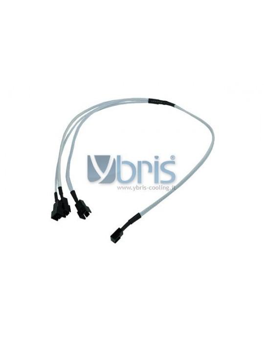 Phobya Y-Cable 3Pin Molex to 3x 3Pin Molex 60cm - UV white Phobya - 1