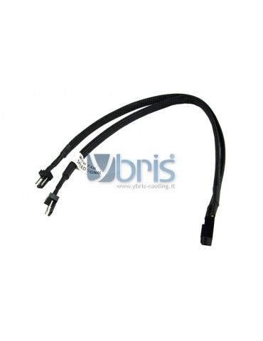 Phobya Y-cable 3Pin Molex to 2x 3Pin Molex 30cm - Black