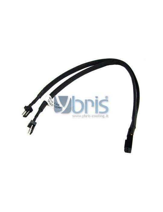 Phobya Y-cable 3Pin Molex to 2x 3Pin Molex 30cm - Black Phobya - 2