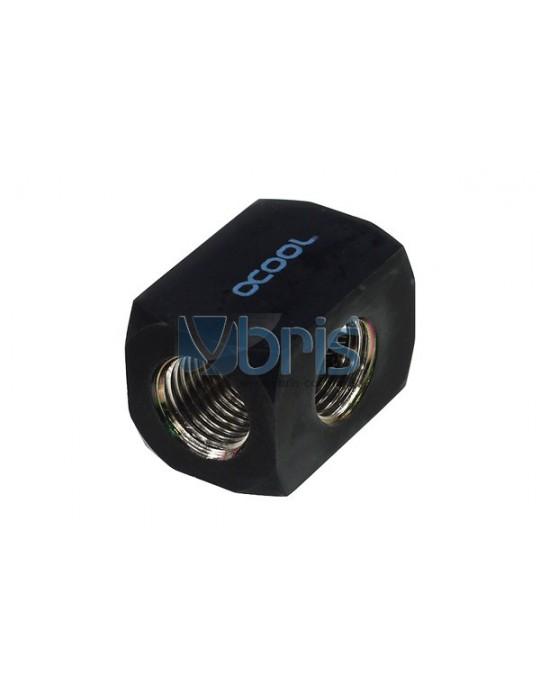 Alphacool connettore a T 3xG1/4  Hi Flow Deep Black Alphacool - 1