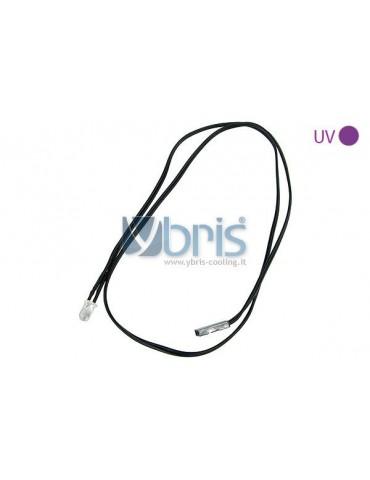 Phobya LED 3mm UV cavo 60 cm 2pin