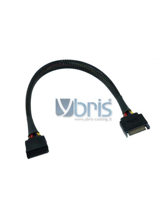 Phobya SATA power extension internal 30cm - black Phobya - 1