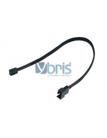 Phobya adaptor 4Pin PWM plug 3Pin femmina 30cm - black