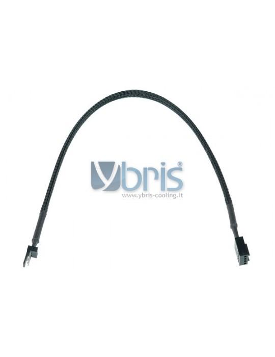 Phobya adaptor 3Pin plug  4Pin PWM femmina 30cm black Phobya - 1