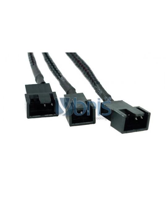 Phobya Y-adaptor 4Pin Molex to 2x 4Pin PWM and 3Pin 30cm - black Phobya - 2