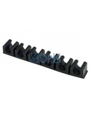 terminal strip black 16mm (16mm OD) 6 clips