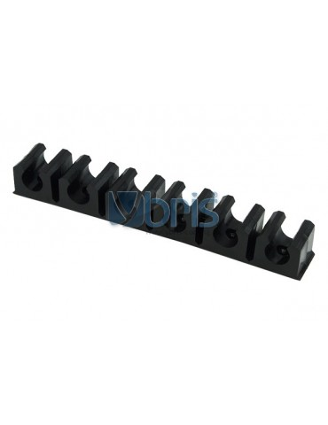 terminal strip black 13mm (10x1,5mm) 6 clips