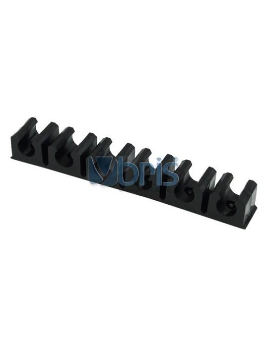 terminal strip black 13mm (10x1,5mm) 6 clips Phobya - 1