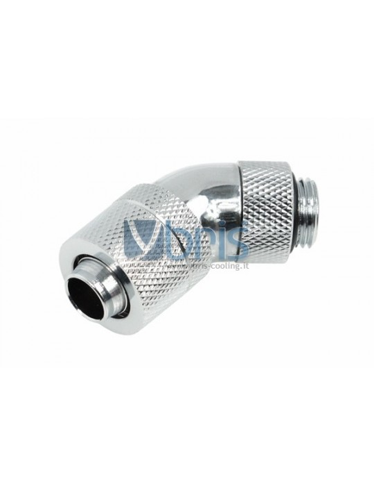 Alphacool 13/10 compression fitting 45° ruotabile G1/4 - Cromo Alphacool - 1