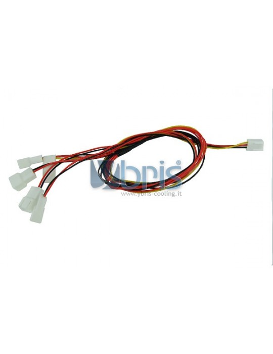 Y-cable 3Pin Molex to 4x 3Pin Ybris-Cooling - 2