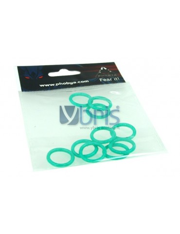 Phobya O-ring 11,1 x 2 mm (G1/4 Inch) UV-reactive Green 10pcs
