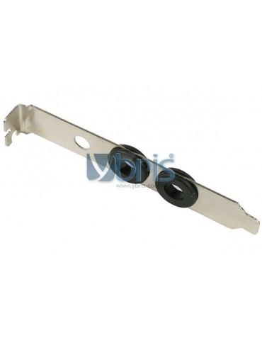Slot Cover PCI con passaparete gomma per tubi 8/10 mm