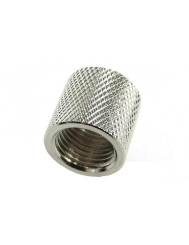 Bussola 2x1/4G F/F Zigrinata Silver Nikel L.16mm