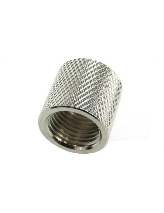 Bussola 2x1/4G F/F Zigrinata Silver Nikel L.16mm Phobya - 1