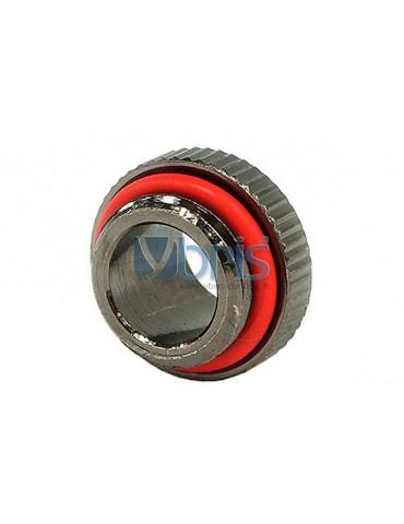Adapter maschio 1/4G  - maschio 1/4G  Black Nikel zigrinato