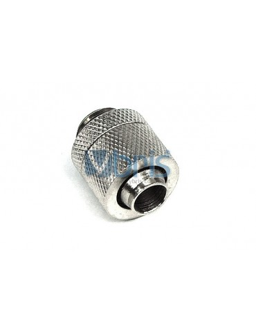 Raccordo a compressione 1/4G tubo 10/13 mm Silver Nickel
