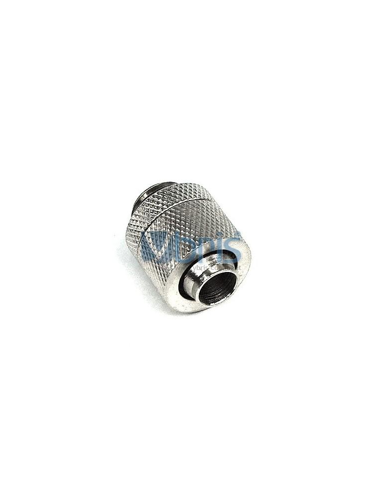 Raccordo a compressione 1/4G tubo 10/13 mm Silver Nickel